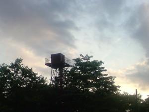 スタート地点の給水塔