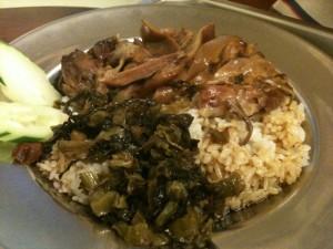 豚肉とタイ米のなんちゃら。